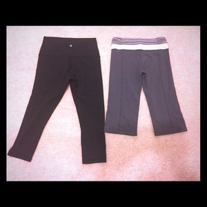 1cb5b893cbf0c (2) pairs of Lululemon yoga Capri leggings pants